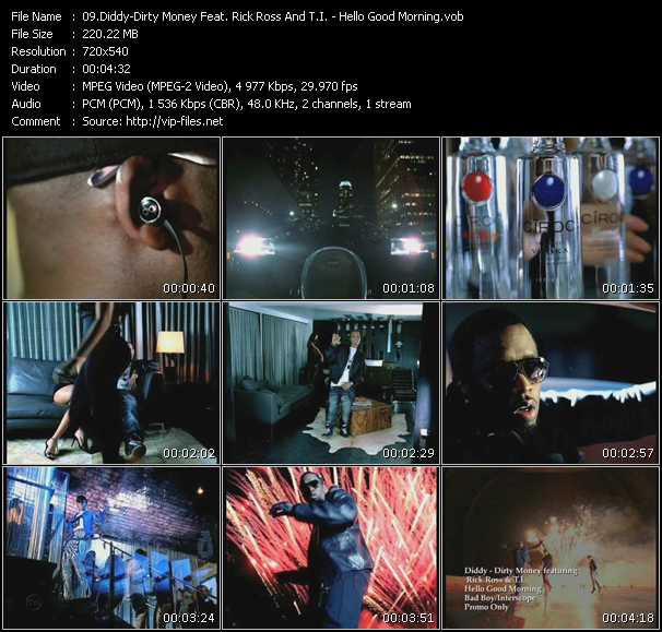 Diddy - Dirty Money Feat. Rick Ross And T.I. Video Clip(VOB) vob