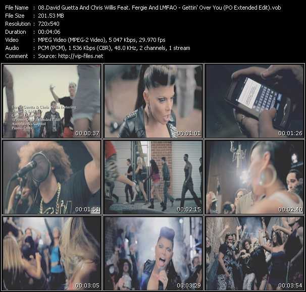 David Guetta And Chris Willis Feat. Fergie And Lmfao Video Clip(VOB) vob
