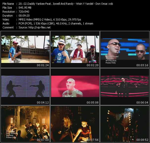 Daddy Yankee Feat. Jowell And Randy - Wisin And Yandel - Don Omar Video Clip(VOB) vob