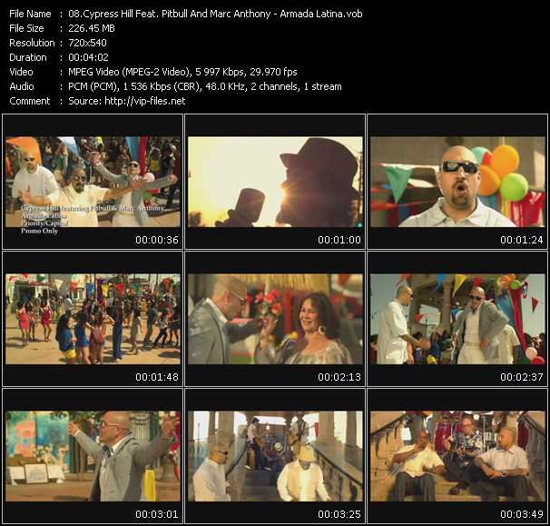 Cypress Hill Feat. Pitbull And Marc Anthony Video Clip(VOB) vob