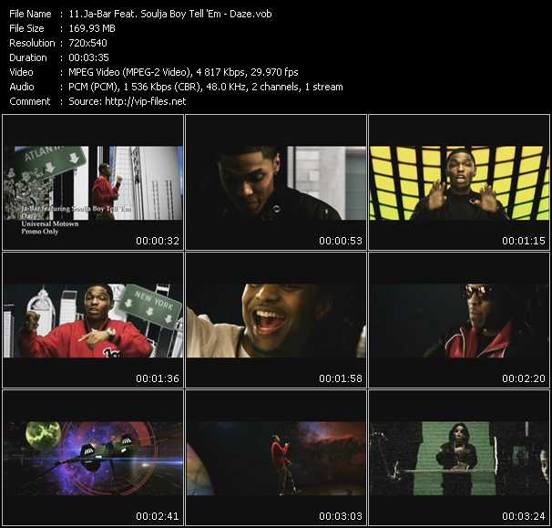Ja-Bar Feat. Soulja Boy Tell 'Em Video Clip(VOB) vob