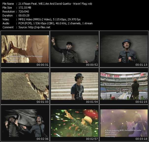 K'Naan Feat. Will.I.Am And David Guetta Video Clip(VOB) vob