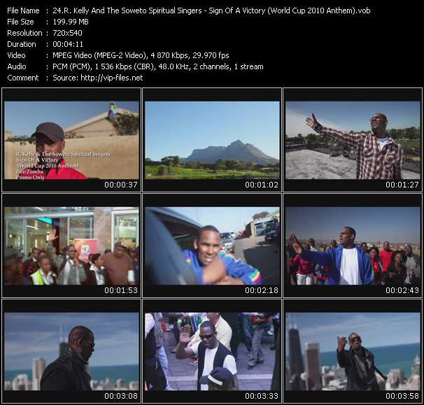 R. Kelly And The Soweto Spiritual Singers Video Clip(VOB) vob