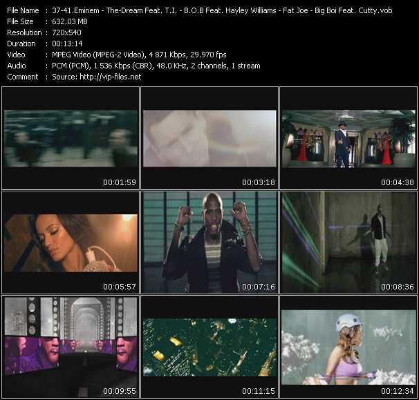 Eminem - The-Dream Feat. T.I. - B.O.B. aka Bobby Ray Feat. Hayley Williams - Fat Joe Feat. Young Jeezy - Big Boi Feat. Cutty Video Clip(VOB) vob