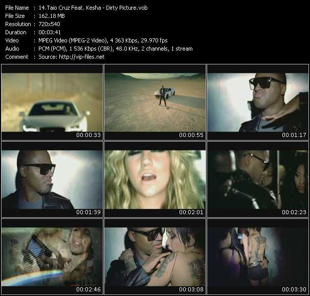 Taio Cruz Feat. Kesha Video Clip(VOB) vob