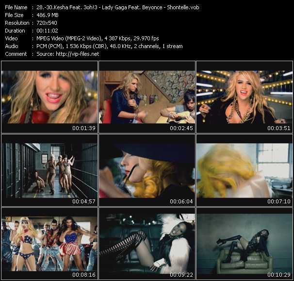 Kesha Feat. 3oh!3 - Lady Gaga Feat. Beyonce - Shontelle Video Clip(VOB) vob