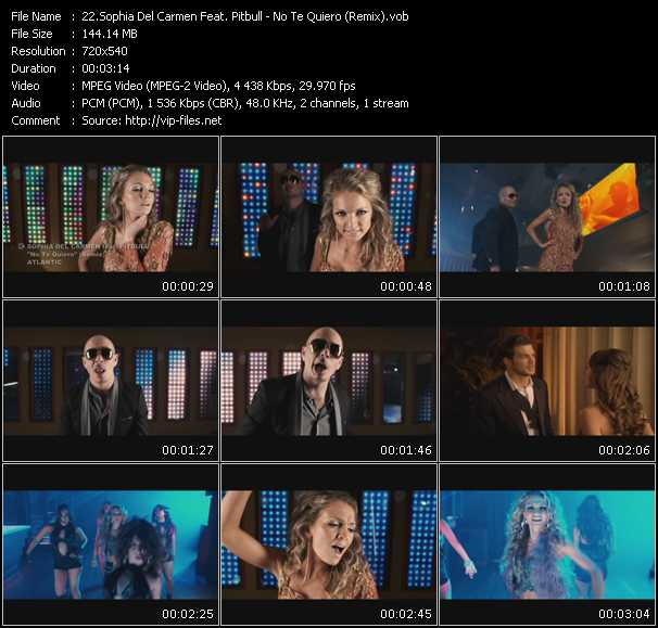 Sophia Del Carmen Feat. Pitbull Video Clip(VOB) vob