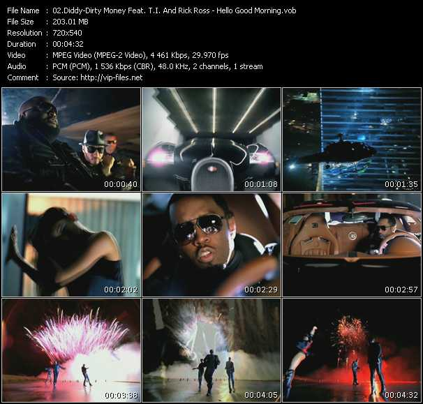 Diddy - Dirty Money Feat. T.I. And Rick Ross Video Clip(VOB) vob