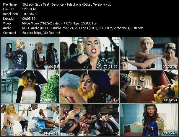 Lady Gaga Feat. Beyonce Video Clip(VOB) vob