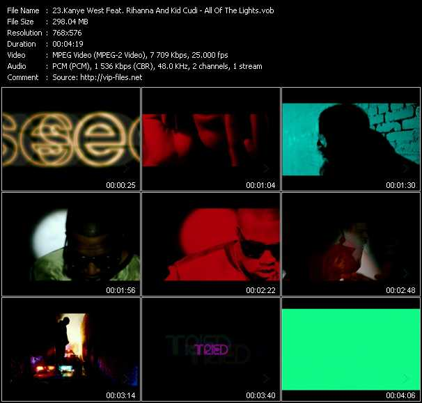 Kanye West Feat. Rihanna And Kid Cudi Video Clip(VOB) vob