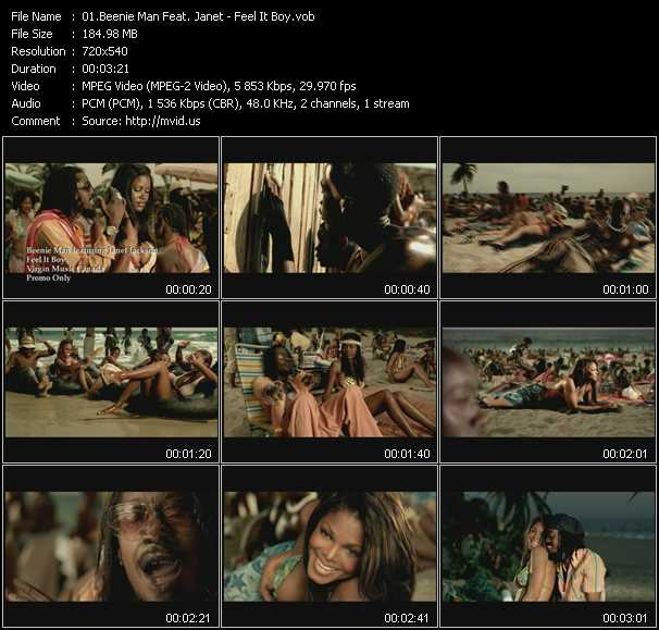 Beenie Man Feat. Janet Jackson Video Clip(VOB) vob
