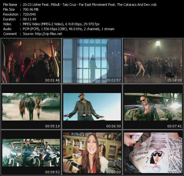 Usher Feat. Pitbull - Taio Cruz - Far East Movement Feat. The Cataracs And Dev Video Clip(VOB) vob