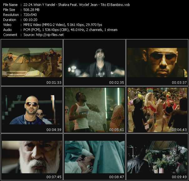 Wisin And Yandel - Shakira Feat. Wyclef Jean - Tito El Bambino Video Clip(VOB) vob