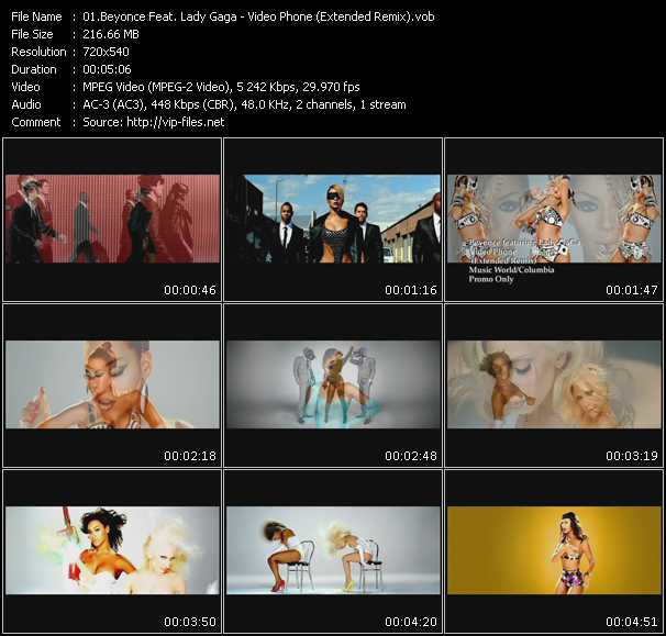 Beyonce Feat. Lady Gaga Video Clip(VOB) vob