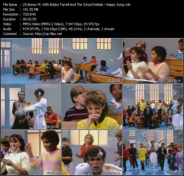 Boney M. With Bobby Farrell And The School Rebels Video Clip(VOB) vob