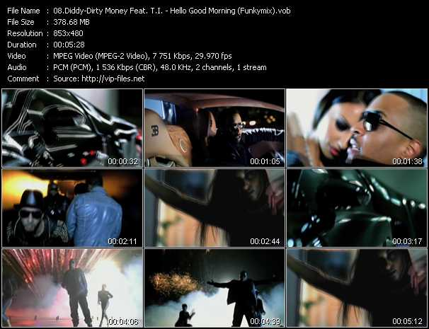 Diddy - Dirty Money Feat. T.I. Video Clip(VOB) vob