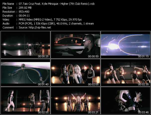 Taio Cruz Feat. Kylie Minogue Video Clip(VOB) vob