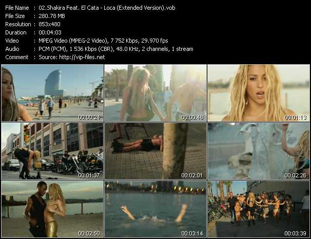 Shakira Feat. El Cata Video Clip(VOB) vob