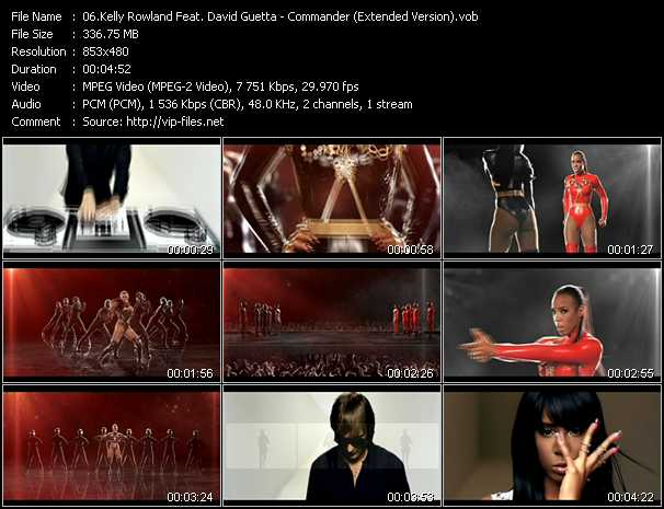Kelly Rowland Feat. David Guetta Video Clip(VOB) vob