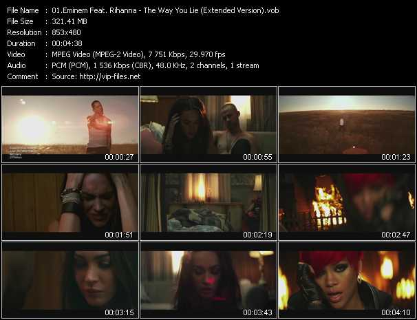 Eminem Feat. Rihanna Video Clip(VOB) vob