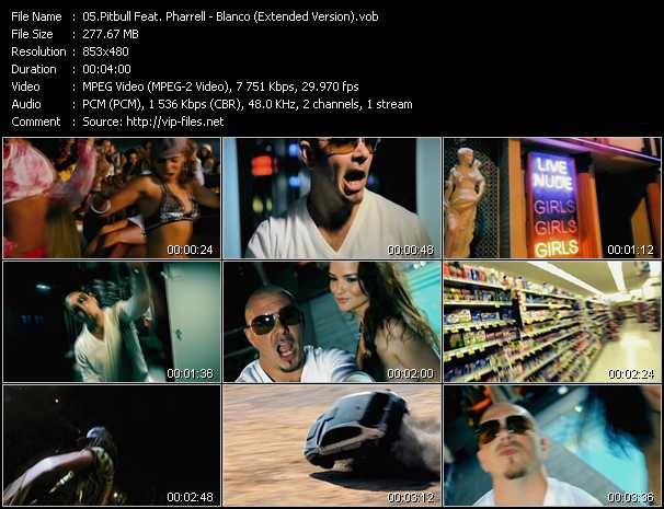 Pitbull Feat. Pharrell Williams Video Clip(VOB) vob