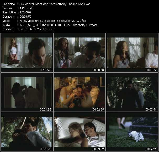 Jennifer Lopez And Marc Anthony Video Clip(VOB) vob