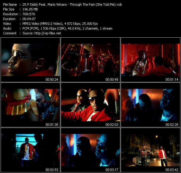 P. Diddy (Puff Daddy) Feat. Mario Winans Video Clip(VOB) vob