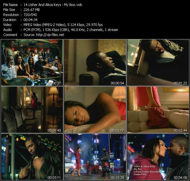 Usher And Alicia Keys Video Clip(VOB) vob