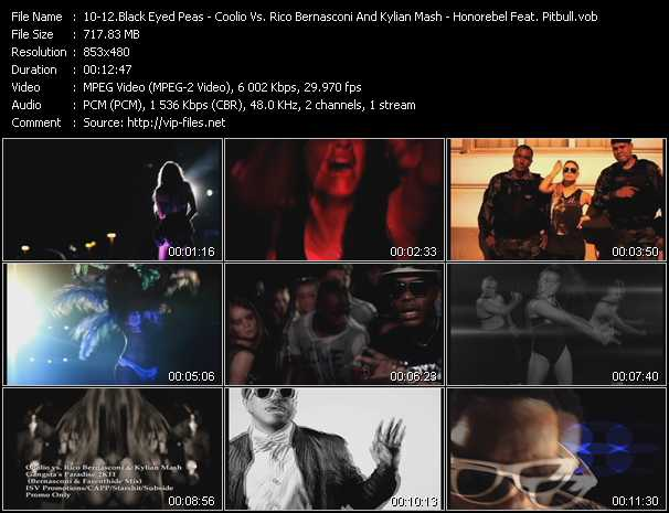 Black Eyed Peas - Coolio Vs. Rico Bernasconi And Kylian Mash - Honorebel Feat. Pitbull Video Clip(VOB) vob