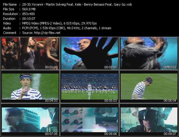 Yovanni - Martin Solveig Feat. Kele - Benny Benassi Feat. Gary Go Video Clip(VOB) vob