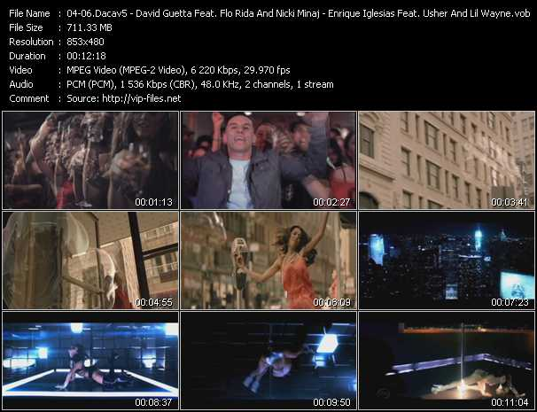 Dacav5 - David Guetta Feat. Flo Rida And Nicki Minaj - Enrique Iglesias Feat. Usher And Lil' Wayne Video Clip(VOB) vob