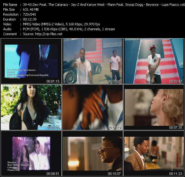 Dev Feat. The Cataracs - Jay-Z And Kanye West Feat. Otis Redding - Mann Feat. Snoop Dogg And Iyaz - Beyonce - Lupe Fiasco Feat. Trey Songz Video Clip(VOB) vob