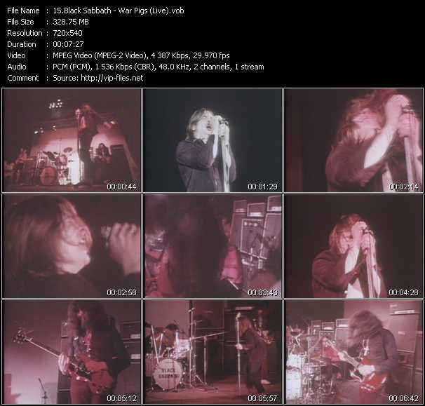 Black Sabbath Video Clip(VOB) vob