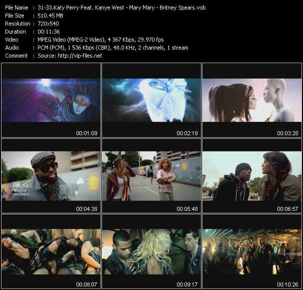 Katy Perry Feat. Kanye West - Mary Mary - Britney Spears Video Clip(VOB) vob
