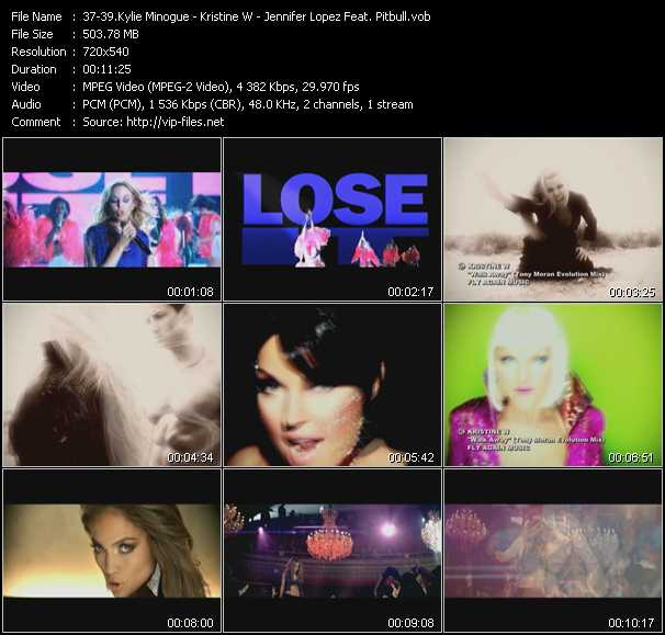 Kylie Minogue - Kristine W - Jennifer Lopez Feat. Pitbull Video Clip(VOB) vob