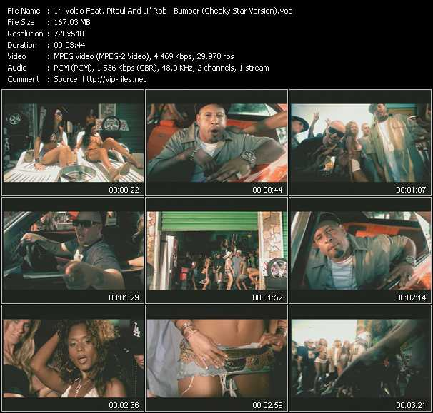 Voltio Feat. Pitbull And Lil' Rob Video Clip(VOB) vob