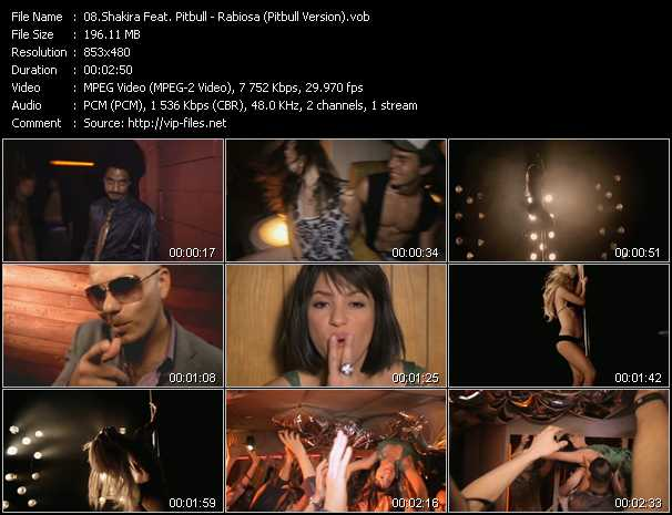 Shakira Feat. Pitbull Video Clip(VOB) vob