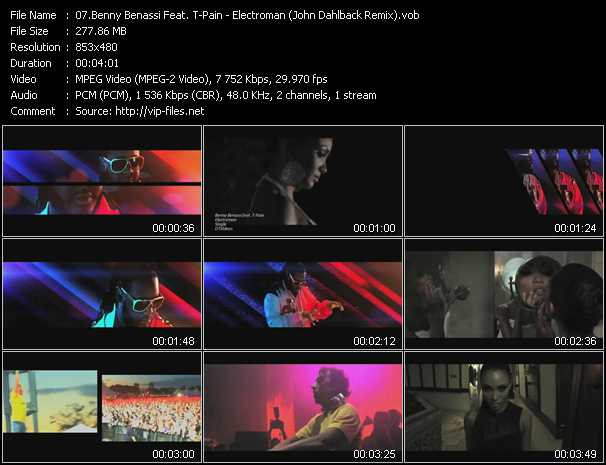 Benny Benassi Feat. T-Pain Video Clip(VOB) vob