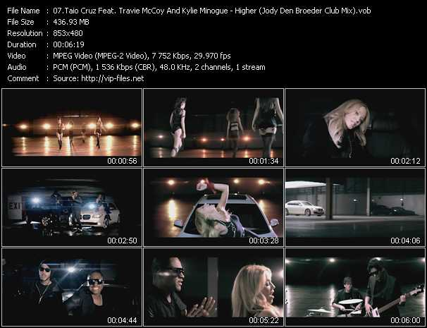 Taio Cruz Feat. Travis McCoy And Kylie Minogue Video Clip(VOB) vob