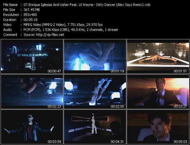 Enrique Iglesias And Usher Feat. Lil' Wayne Video Clip(VOB) vob