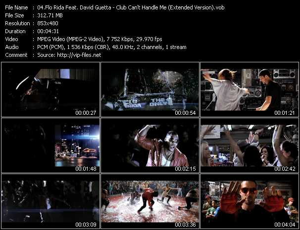 Flo Rida Feat. David Guetta Video Clip(VOB) vob