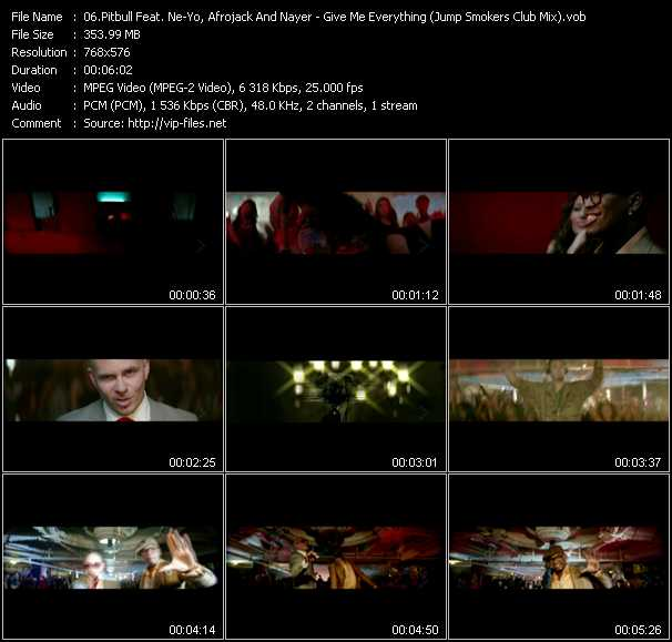 Pitbull Feat. Ne-Yo, Afrojack And Nayer Video Clip(VOB) vob
