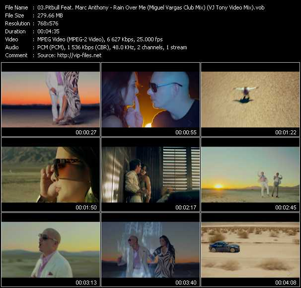 Pitbull Feat. Marc Anthony Video Clip(VOB) vob