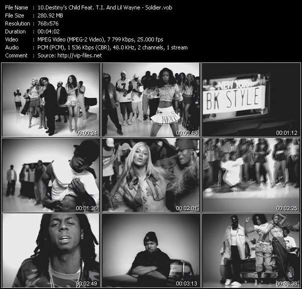 Destiny's Child Feat. T.I. And Lil' Wayne Video Clip(VOB) vob