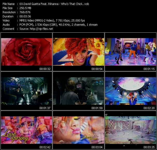 David Guetta Feat. Rihanna Video Clip(VOB) vob
