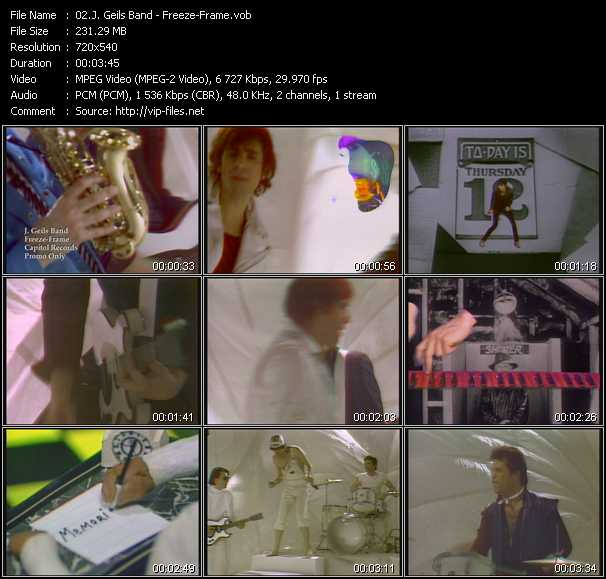 J. Geils Band Video Clip(VOB) vob