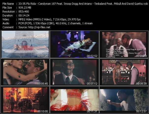 Flo Rida - Candyman 187 Feat. Snoop Dogg And Ariano - Timbaland Feat. Pitbull And David Guetta Video Clip(VOB) vob