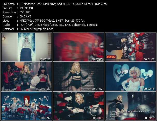 Madonna Feat. Nicki Minaj And M.I.A. Video Clip(VOB) vob