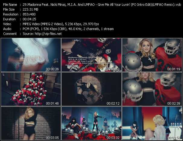 Madonna Feat. Nicki Minaj, M.I.A. And Lmfao Video Clip(VOB) vob