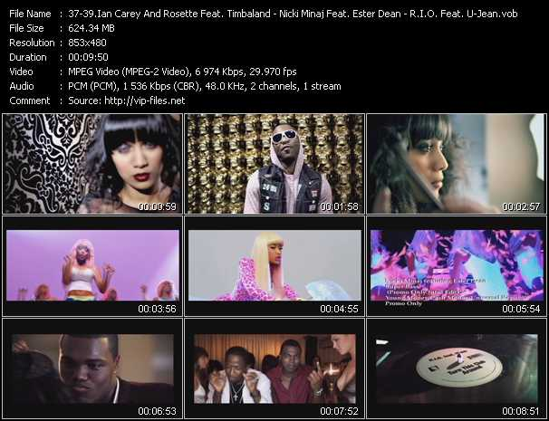 Ian Carey And Rosette Feat. Timbaland And Brasco - Nicki Minaj Feat. Ester Dean - R.I.O. Feat. U-Jean Video Clip(VOB) vob